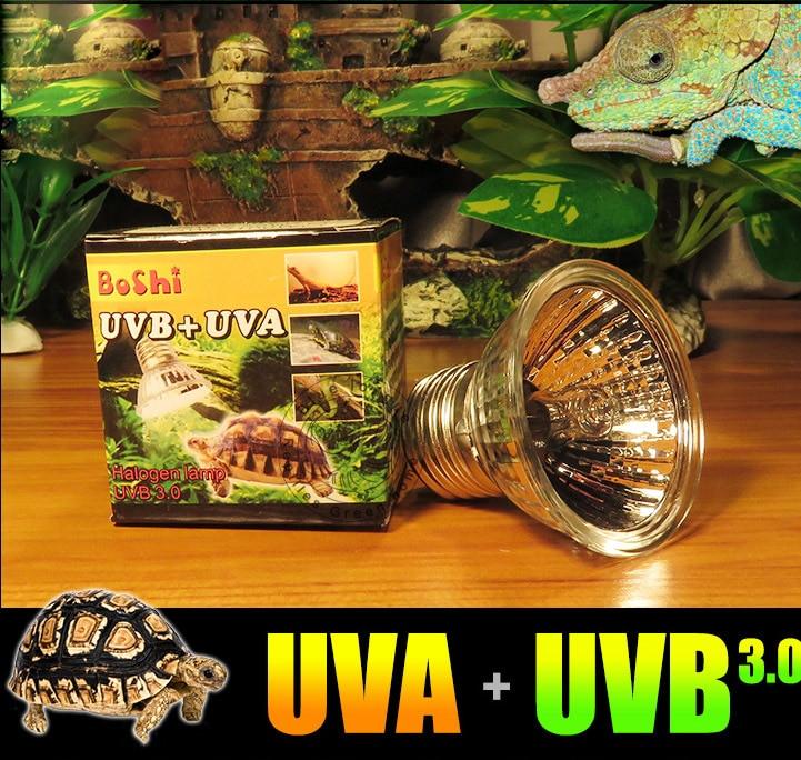 4 pack UVA UVB UV terrario rettile alogeno spettro completo ...