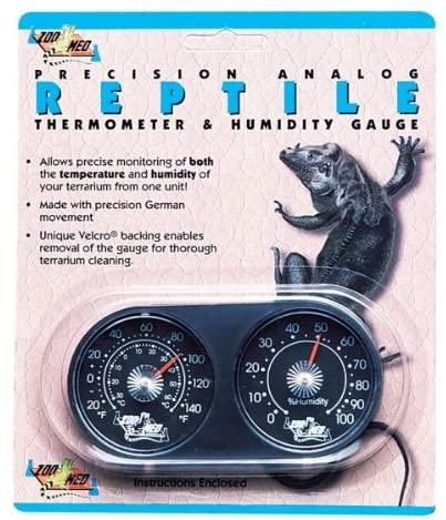 Amazon.com: Zoo Med Dual Thermometer and Humidity Gauge: Pet Supplies