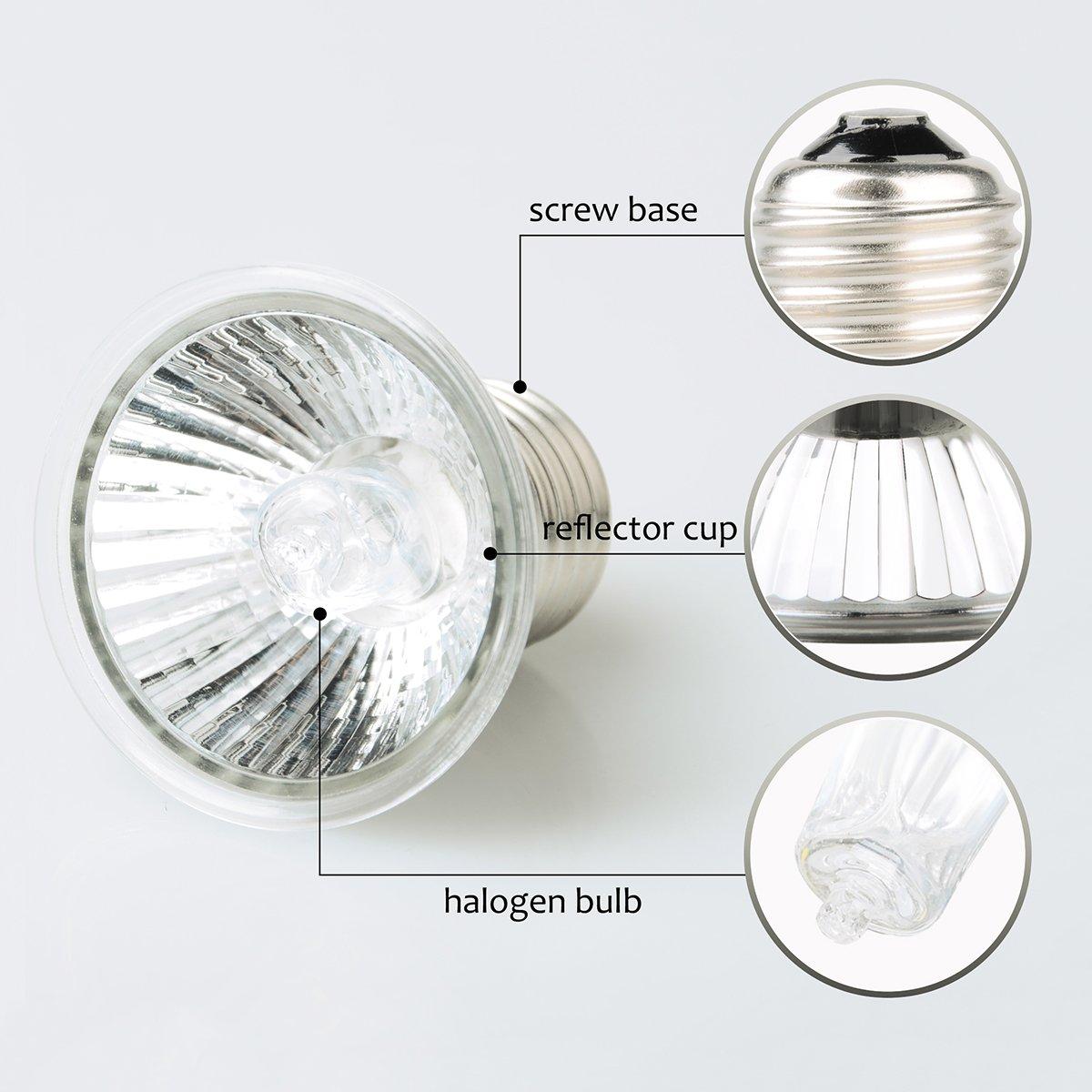D3 UV Basking Lamp, 220V 50W Mini UVB 3.0 Daytime Heat Halogen ...