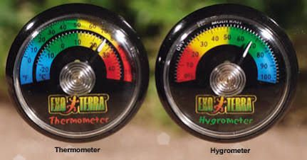 EXO Terra Gauge Thermometer - Reptile Humidity Control PT2465 ...