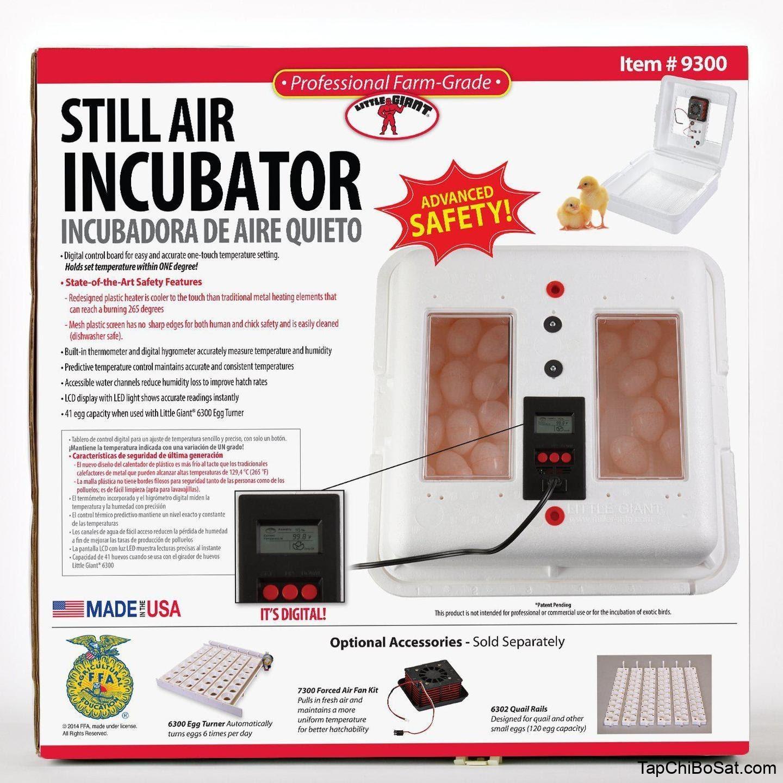 Kết quả hình ảnh cho Little Giant 9300 Still Air Egg Incubator Kit for Reptiles