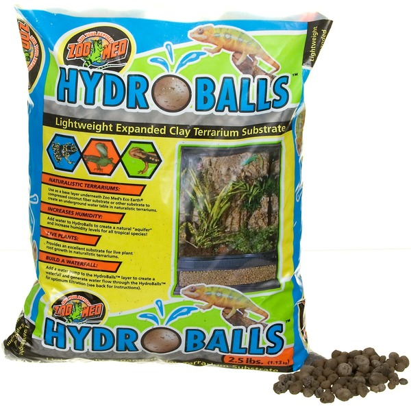 2.5 Pounds Zoo Med HydroBalls Lightweight Expanded Clay Terrarium ...