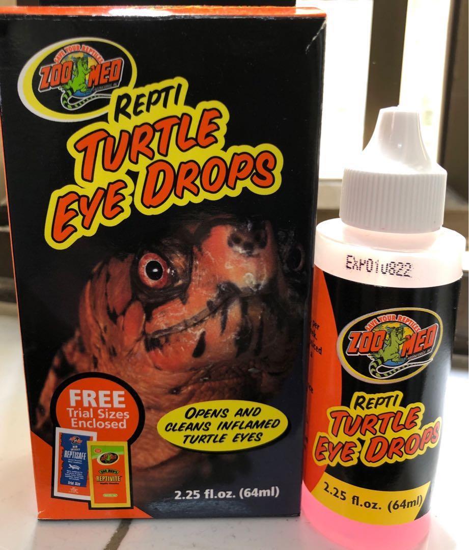 Zoo Med Repti Turtle Eye Drops烏龜/水龜點滴式眼藥水, 寵物用品 ...