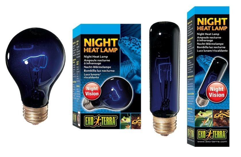 EXO TERRA NIGHT HEAT LAMP T10 A19 REPTILE GLO MOONLIGHT LIGHT BULB ...