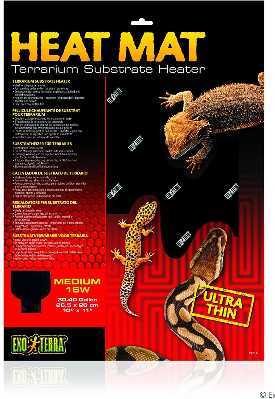 Amazon.com : Exo Terra Heat Mat Terrarium Substrate Heater 16 Watt, Medium 1ct : Pet Supplies
