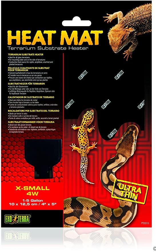 Amazon.com : Exo Terra Heat Mat Terrarium Substrate Heater 4 Watt, X-Small  1ct : Pet Supplies