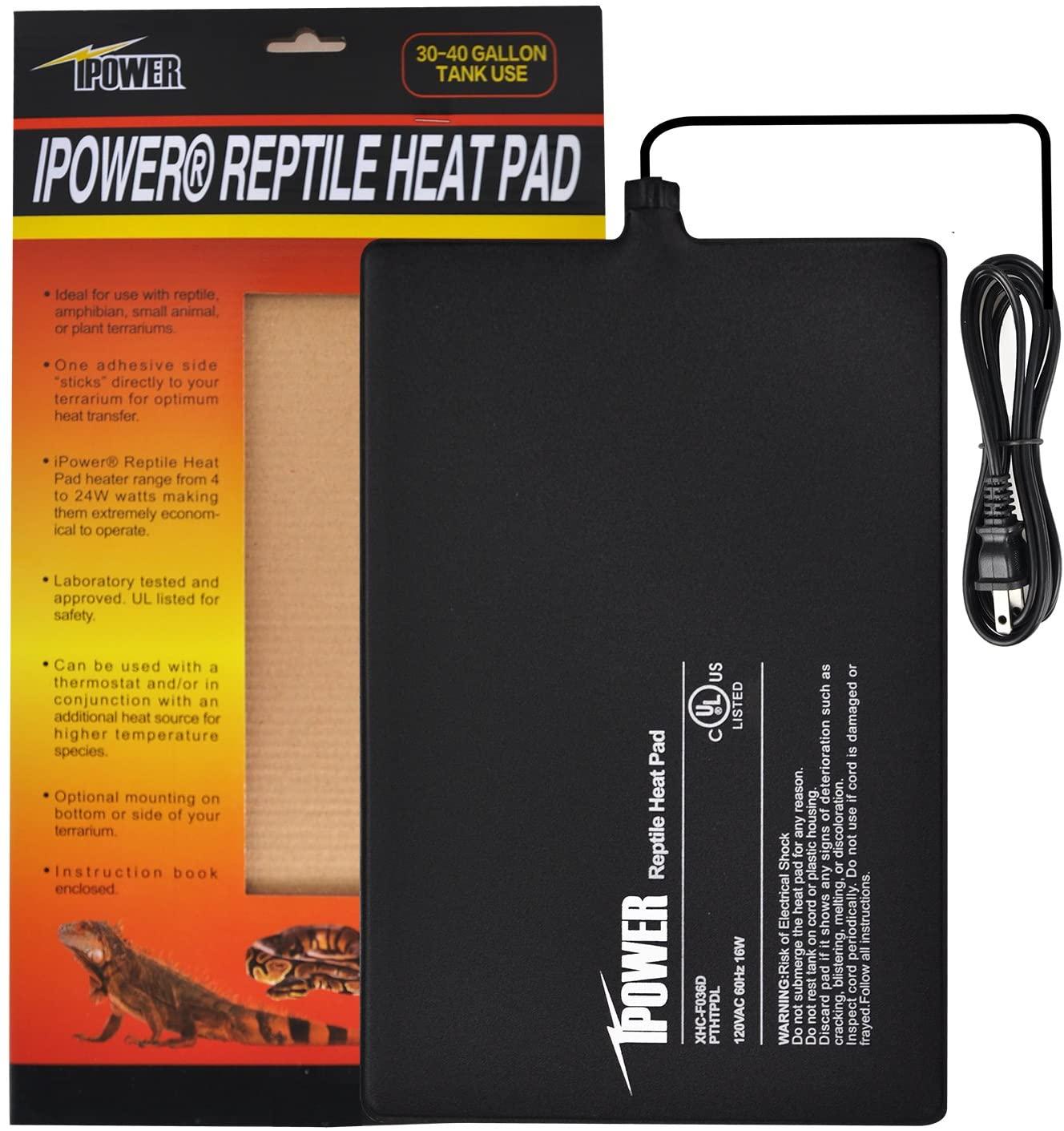 Amazon.com : iPower 8 by 12-Inch 16 Watt Reptile Heat Pad Under ...