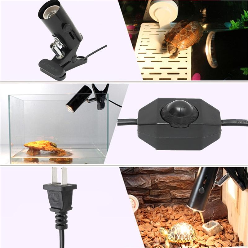 Bộ Kẹp đèn chuyên dụng có chiết áp cho bò sát loại ngắn Quay 360 độ