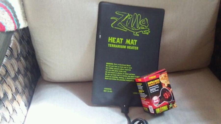 Used Zilla Heat Mat Terrarium Heater and 75 watt Infare for sale ...