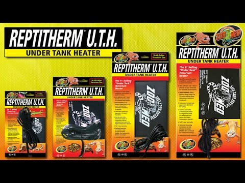 Zoo Med ReptiTherm® Under Tank Heater (U.T.H.) - YouTube