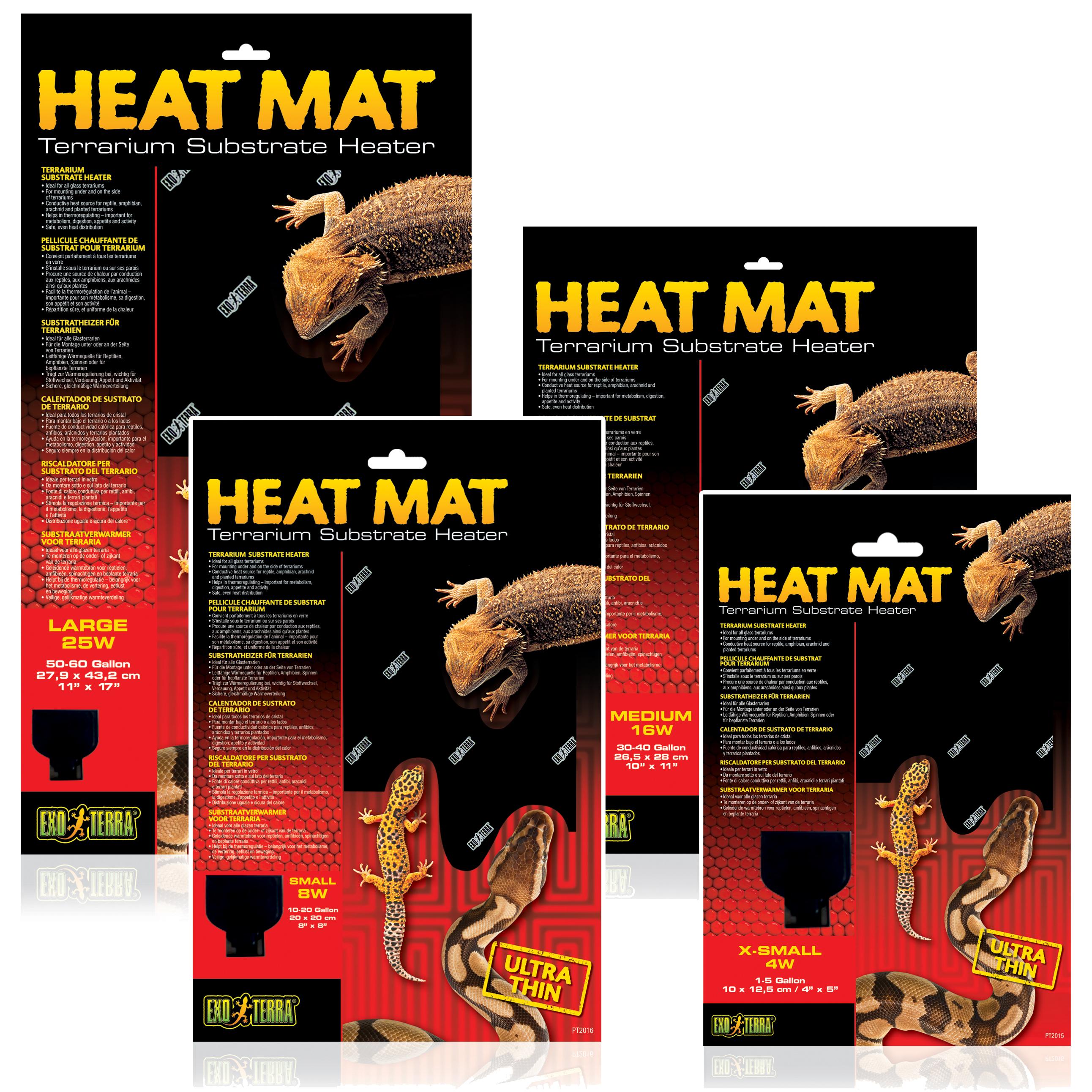 Exo Terra Heat Mats Terrarium Substrate Heating Reptile Lizard Vivarium  Snake | eBay