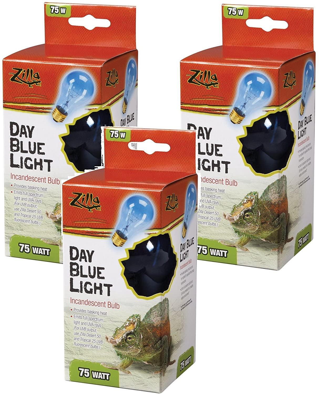 Amazon.com : Zilla Incandescent Bulb, Day Blue Light and Heat, 50 Watt (3 Pack) : Pet Supplies