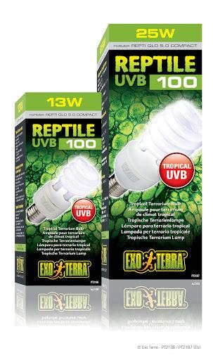 Exo Terra : Reptile UVB100 / Tropical Terrarium Bulb